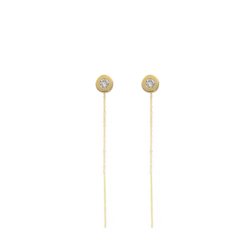 Sophie Threader Earrings, Thatch - Gingerly Witty