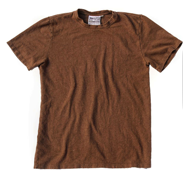 Ten Ounce Baja Short Sleeve Hemp Tee - Unisex  - Bark - Gingerly Witty