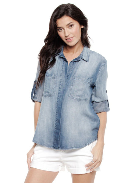 Split Back Button Down, Bella Dahl - Gingerly Witty
