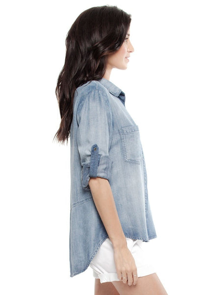 Split Back Button Down - Gingerly Witty