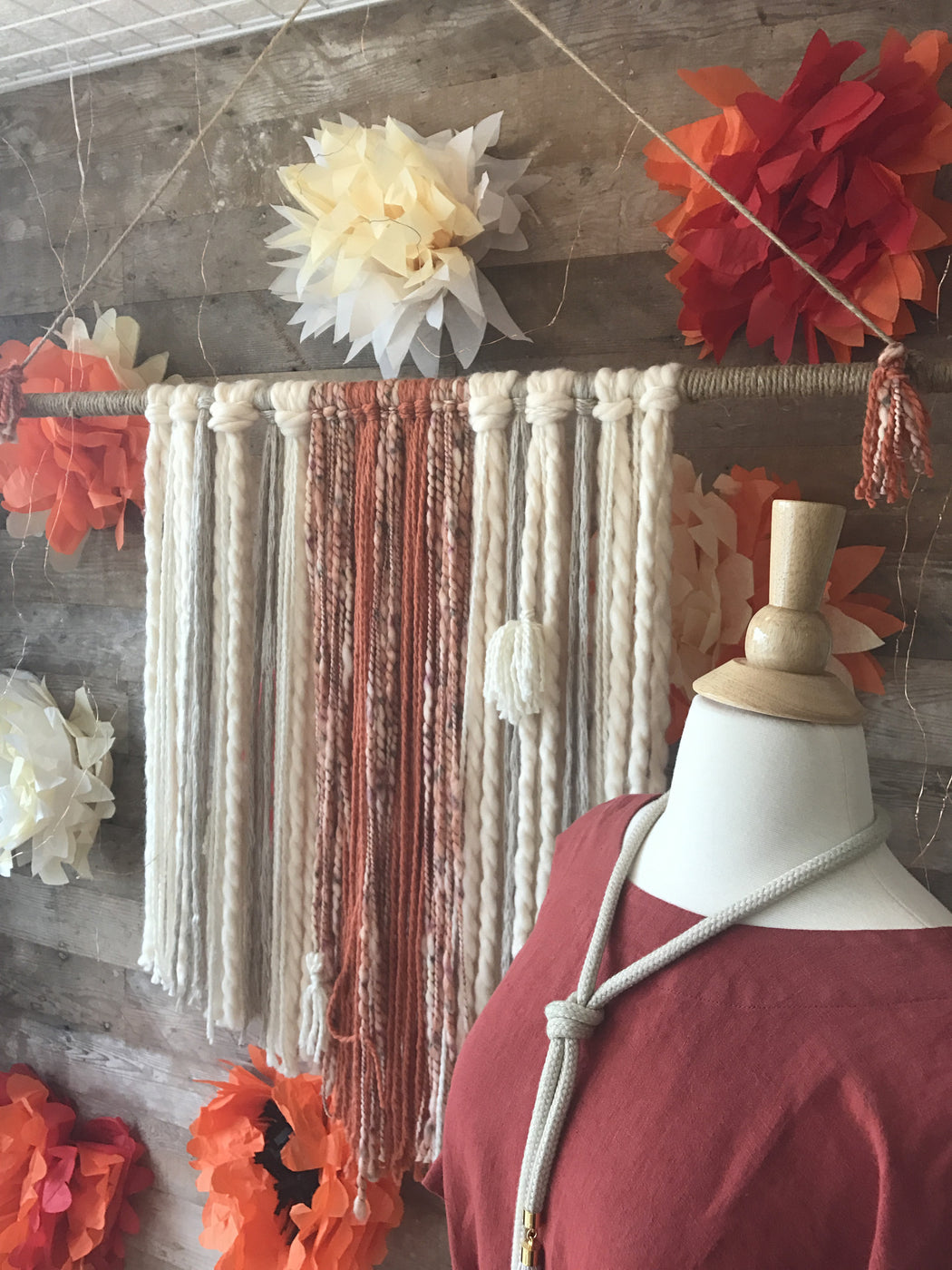 Yarn Tassel Wall Hanging, Gingerly Witty - Gingerly Witty