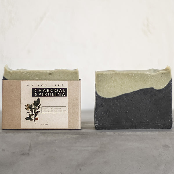 CHARCOAL SPIRULINA BODY BAR