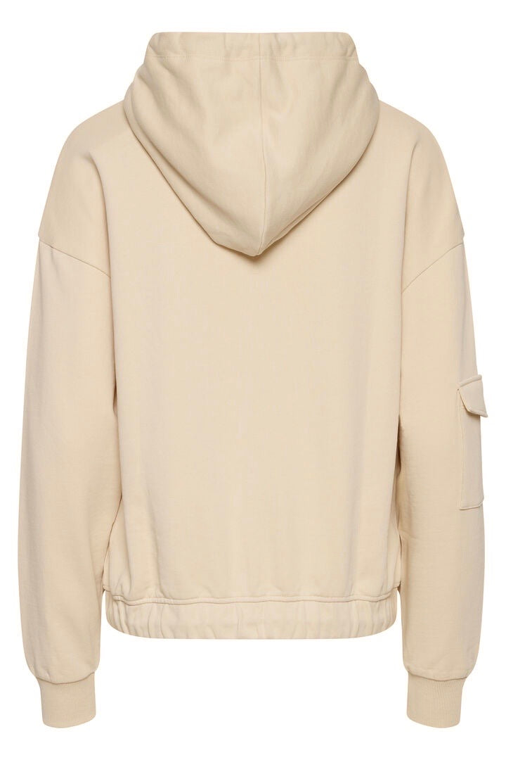Lowise Hooded Sweatshirt-Tapioca