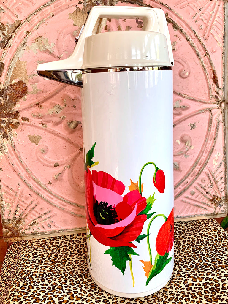 Vintage Everest Large Floral Thermos