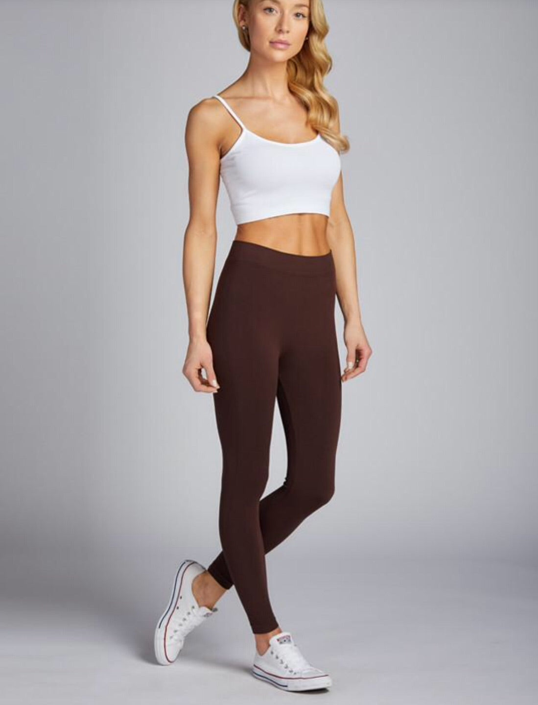Bamboo Leggings-Brown