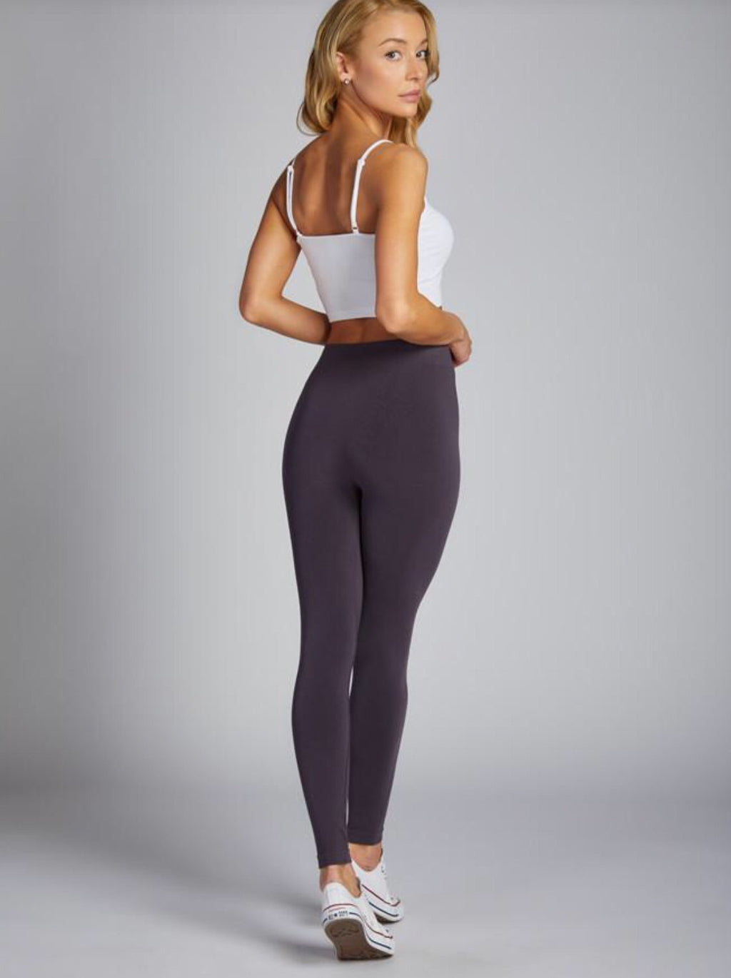 Bamboo Leggings-Charcoal