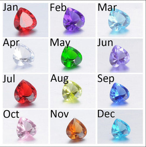 Birthstone Floating Charms (5mm Glass Heart)