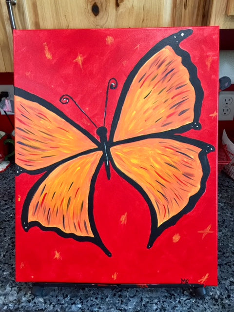 PAINT NIGHT (BEAUTIFUL BUTTERFLY) at J H Robbins Memorial Library Friday, May 17th 6:30pm