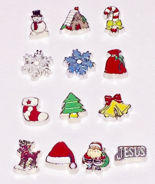 Christmas Locket Charms