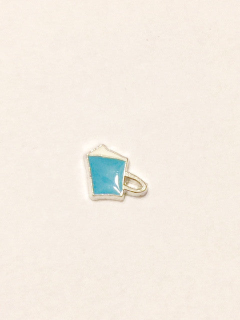 Coffee Cup Charm (blue)
