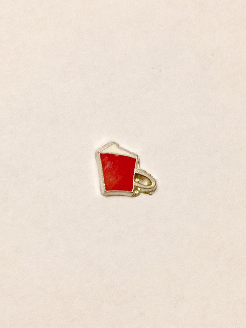 Coffee Cup Charm (red)