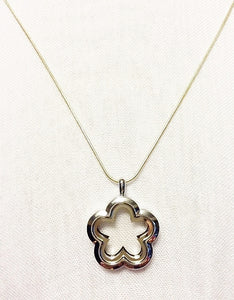 Flower Floating Charm Locket Necklace