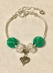 Silver Plated Add-A-Bead Starter Charm Bracelet