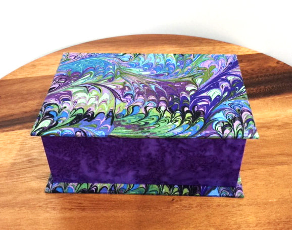 Regal Purple Scripture Keepsake Box