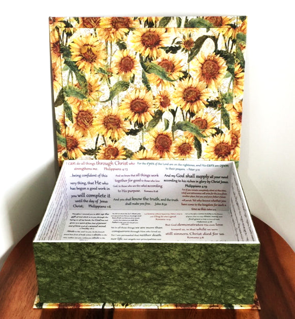 Sunflower Scripture Keepsake Box