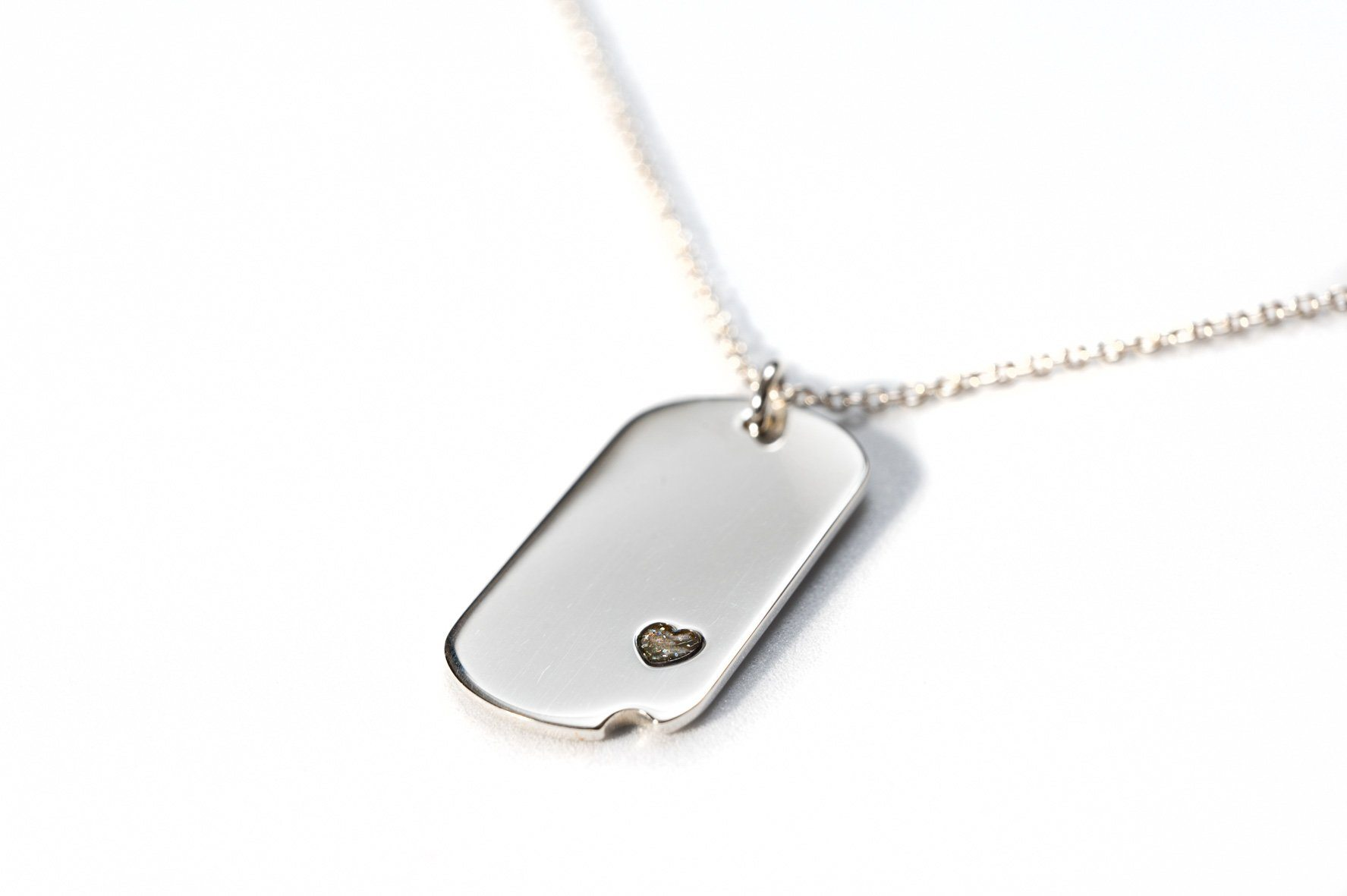 Sterling-Silver Dog Tag with Everence Inlay - Small Everence