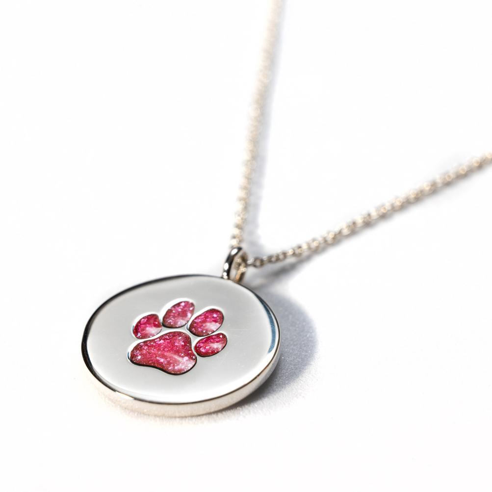 Sterling Silver Pawprint Pendant everence.life