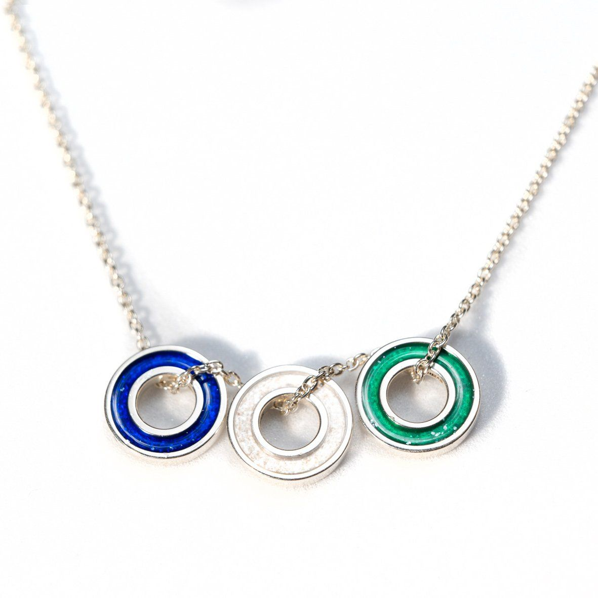 Sterling Silver Forever Charm Necklace with Everence Inlay