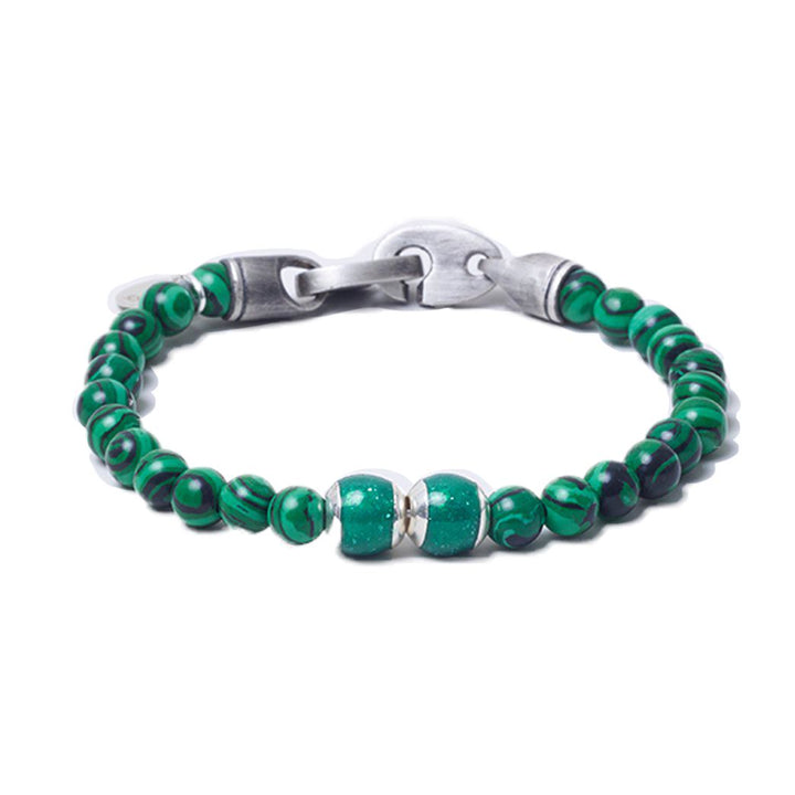 Malachite, Two Everence Beads everence.life