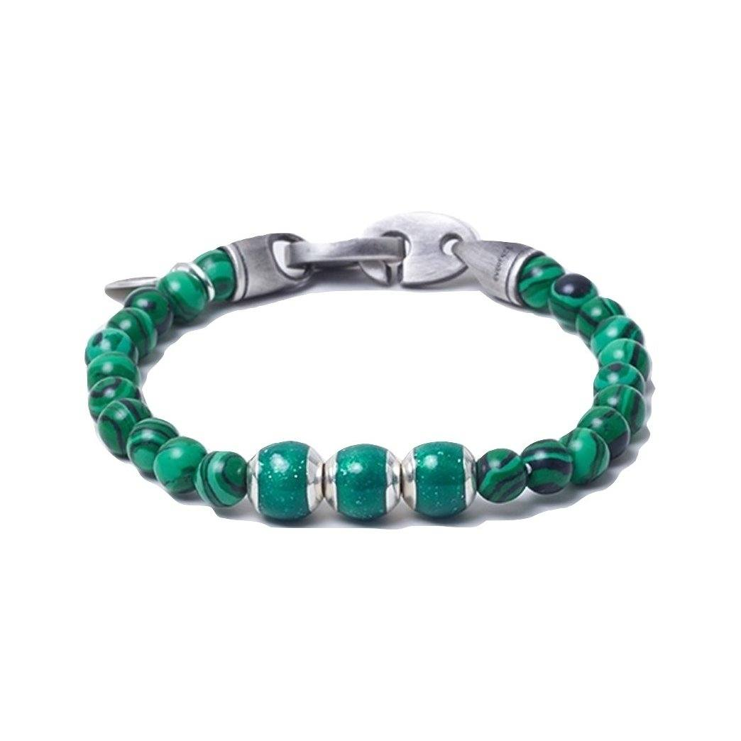 Malachite, Three Everence Beads everence.life