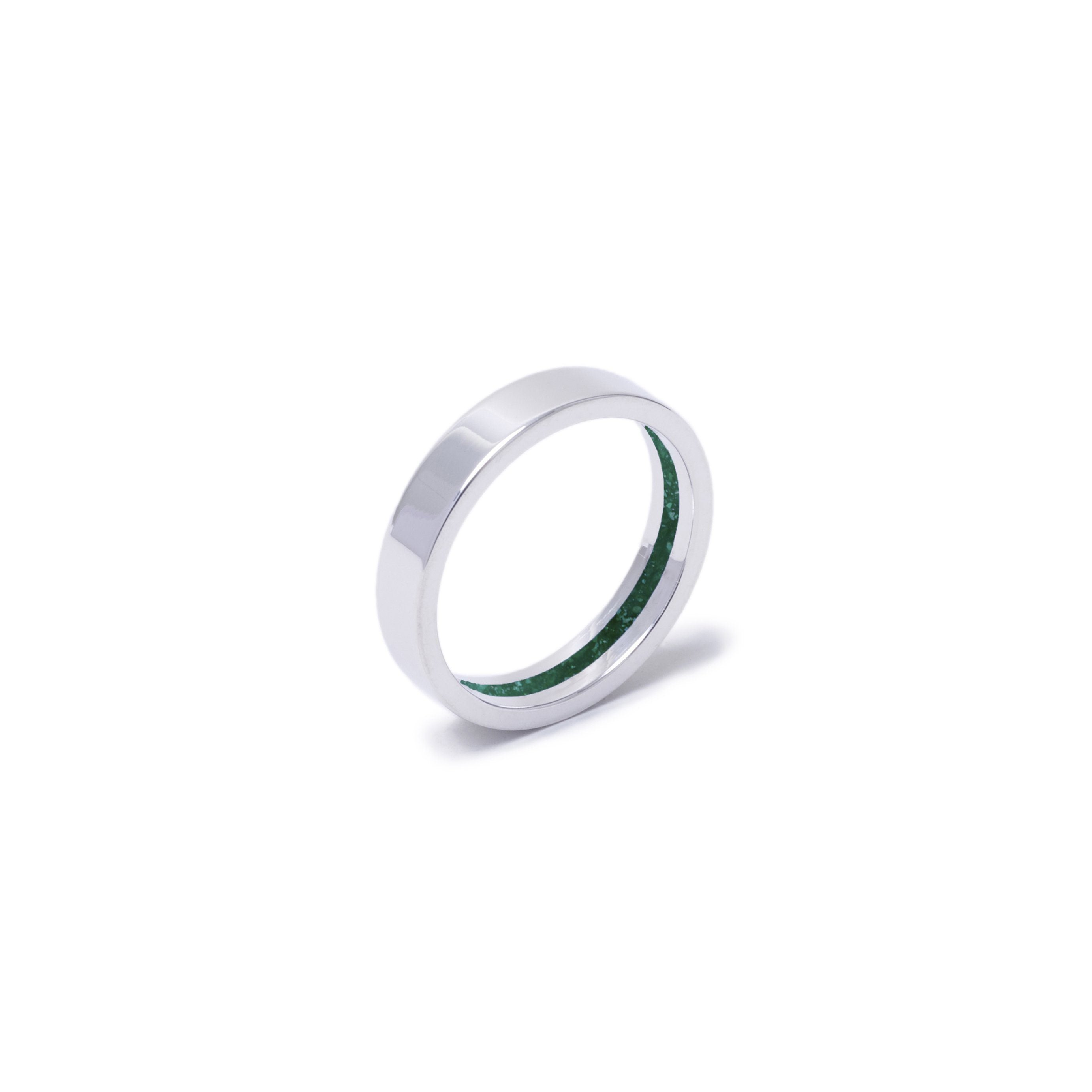 Everence Ring, 10k White Gold everence.life 4mm Emerald