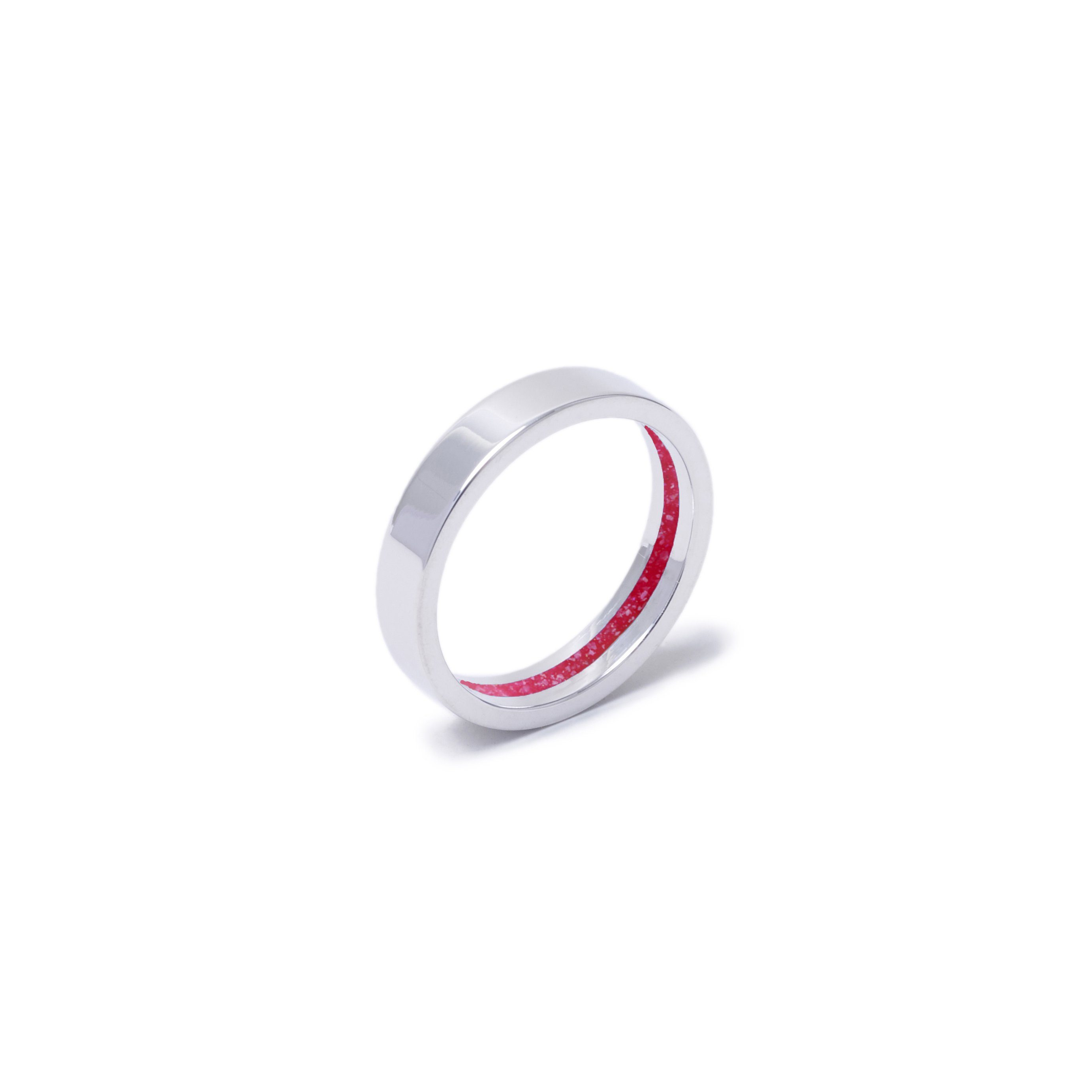 Everence Ring, 10k White Gold everence.life 4mm Scarlet