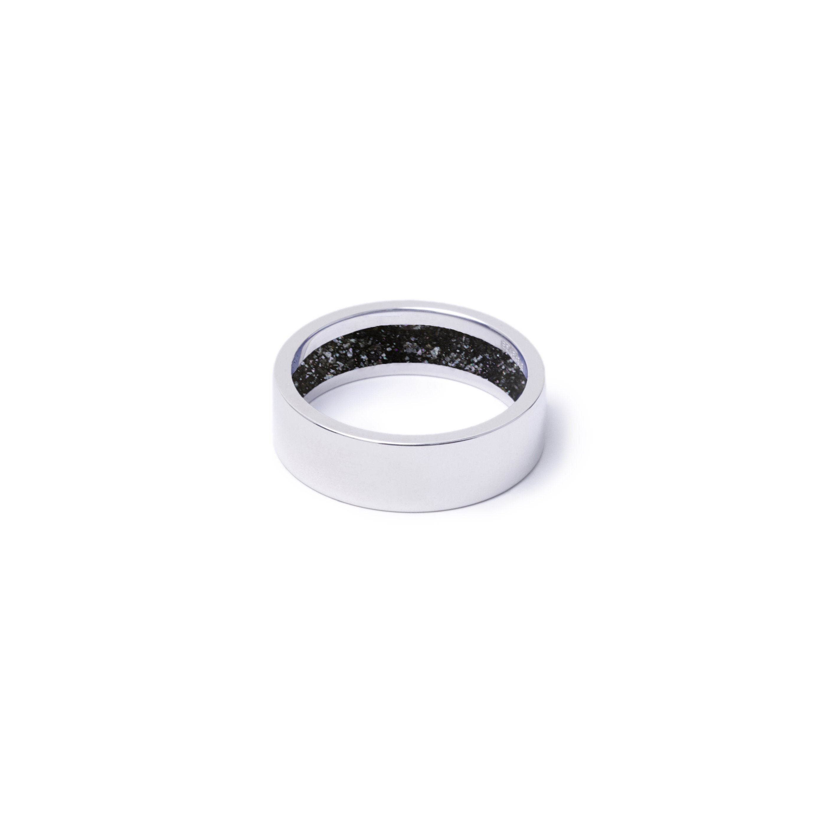Everence Ring, 10k White Gold everence.life 6mm Charcoal