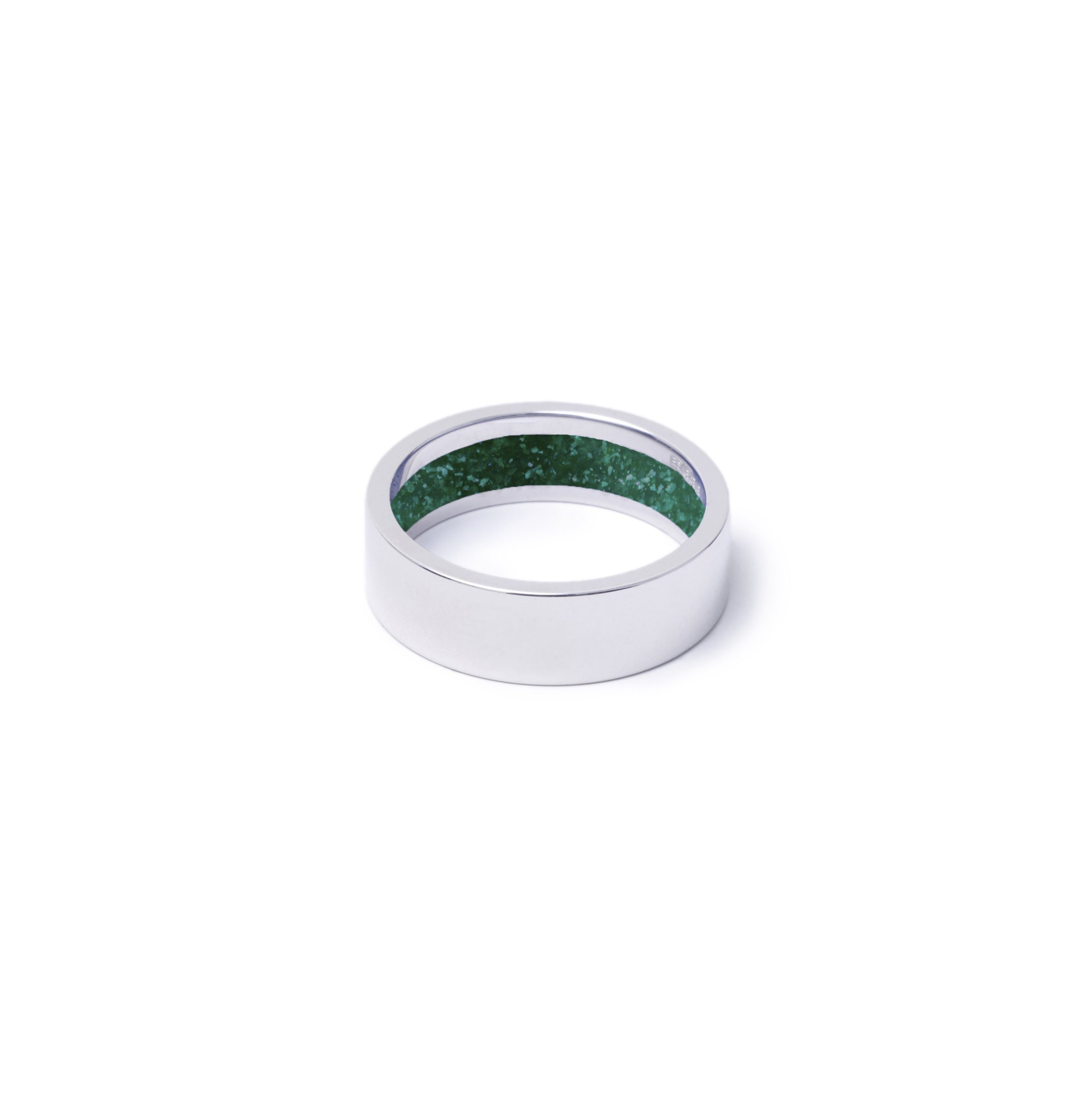 Everence Ring, 10k White Gold everence.life 6mm Emerald