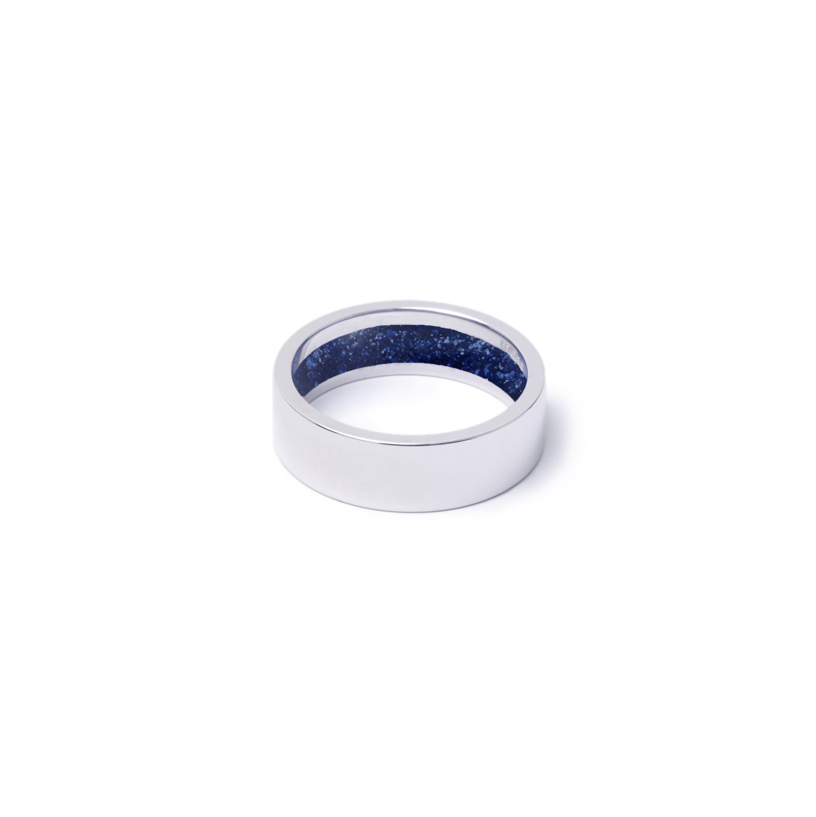 Everence Ring, 10k White Gold everence.life 6mm Navy