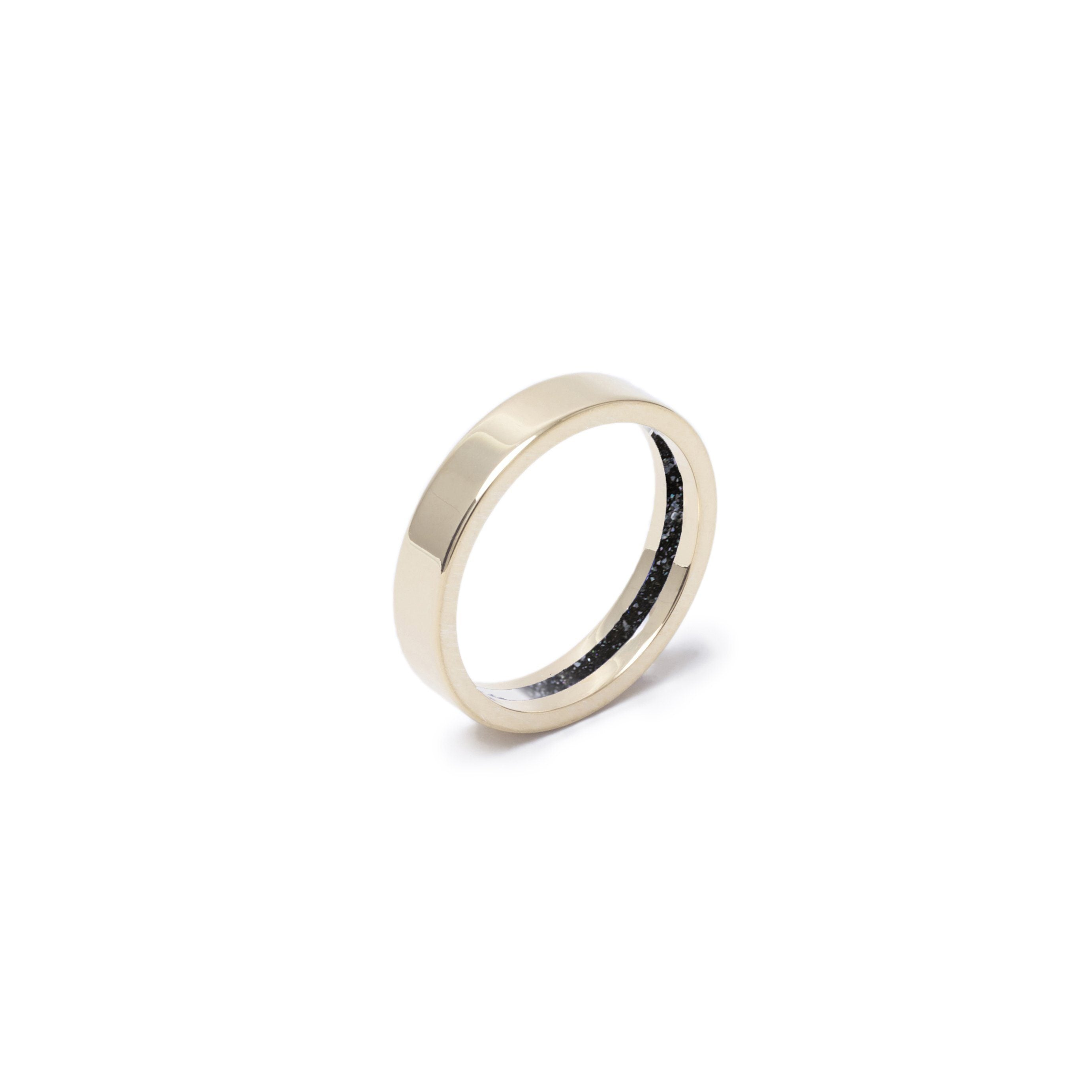 Everence Ring, 10k Yellow Gold everence.life 4mm Charcoal