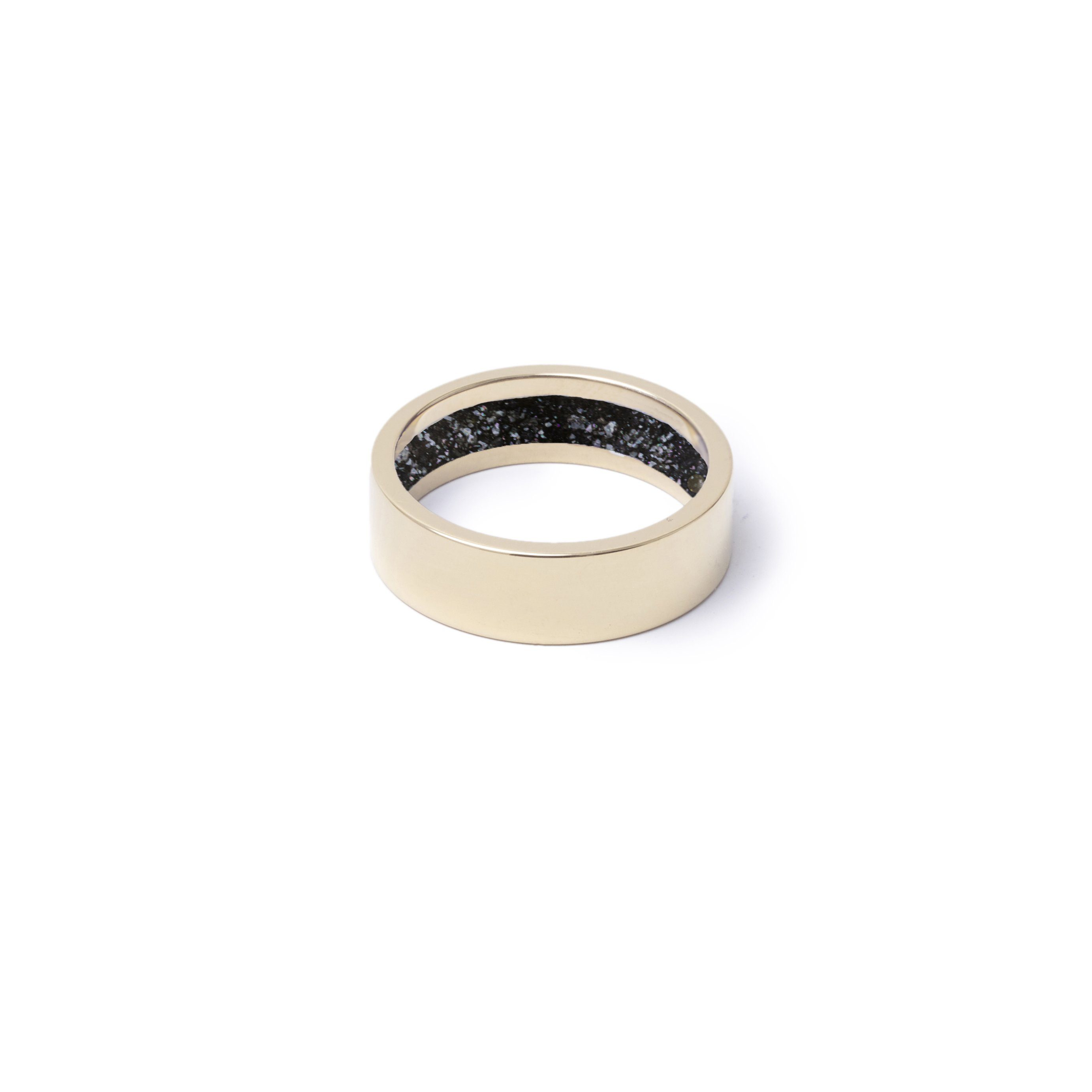 Everence Ring, 10k Yellow Gold everence.life 6mm Charcoal