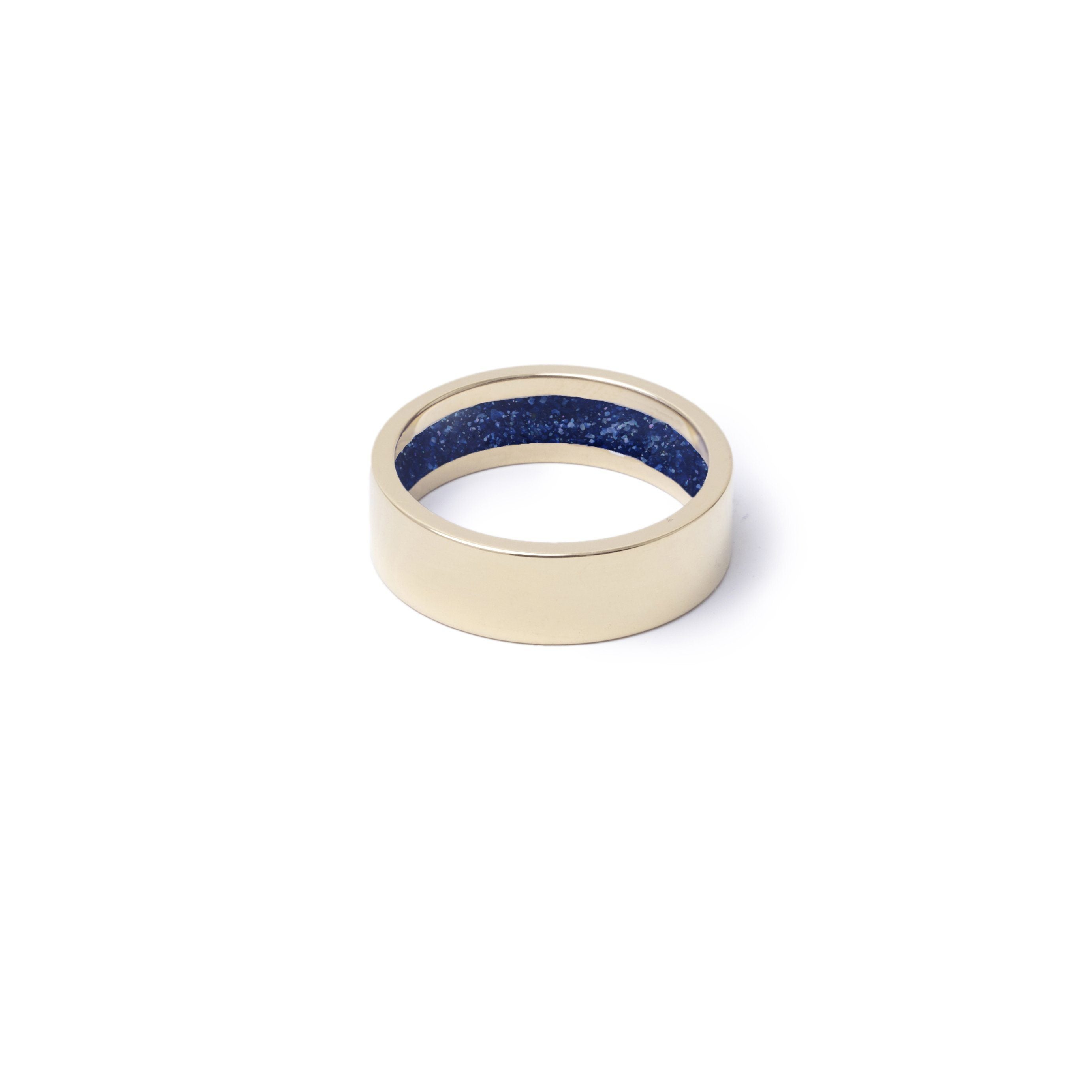 Everence Ring, 10k Yellow Gold everence.life 6mm Navy