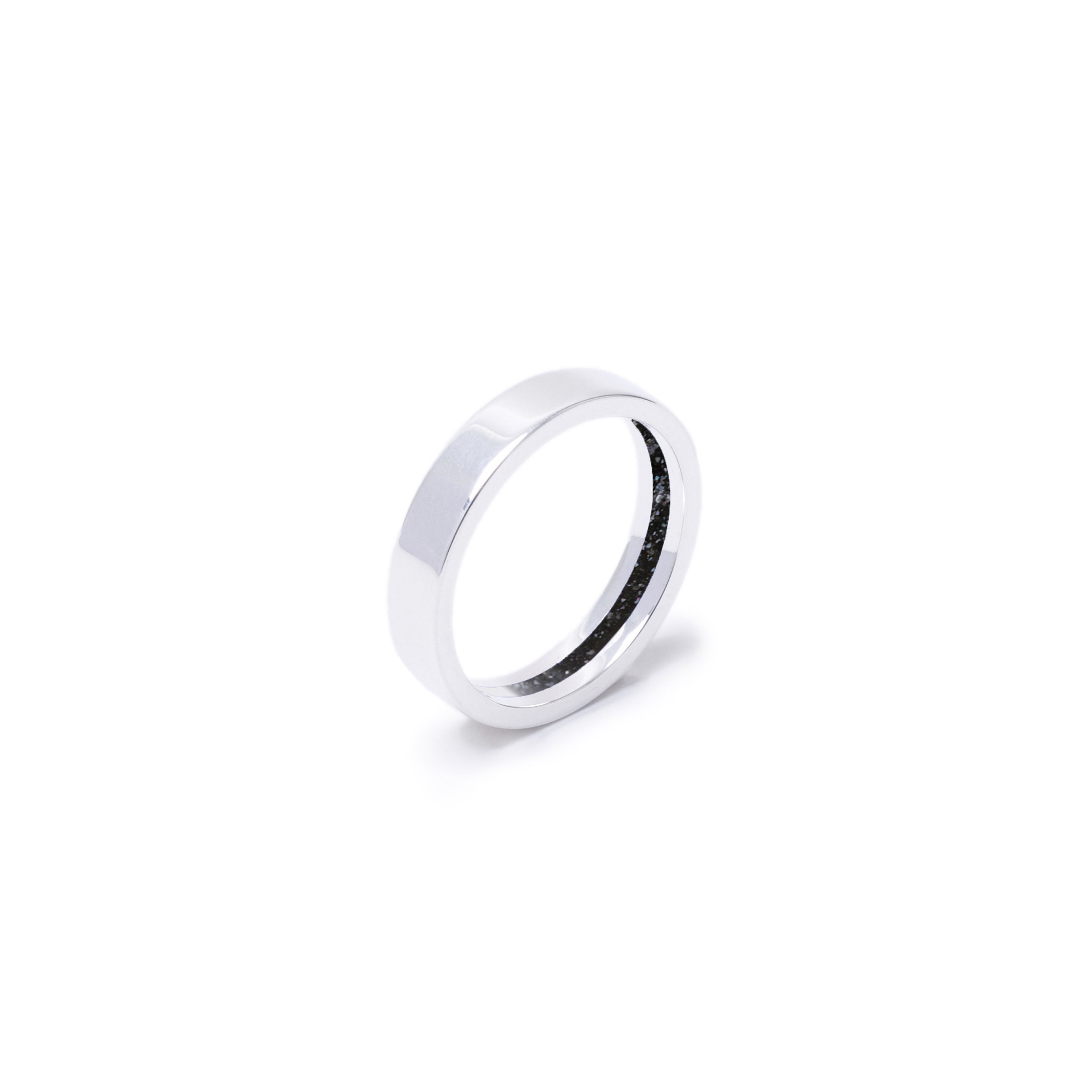 Everence Ring, Sterling Silver everence.life 4mm Charcoal