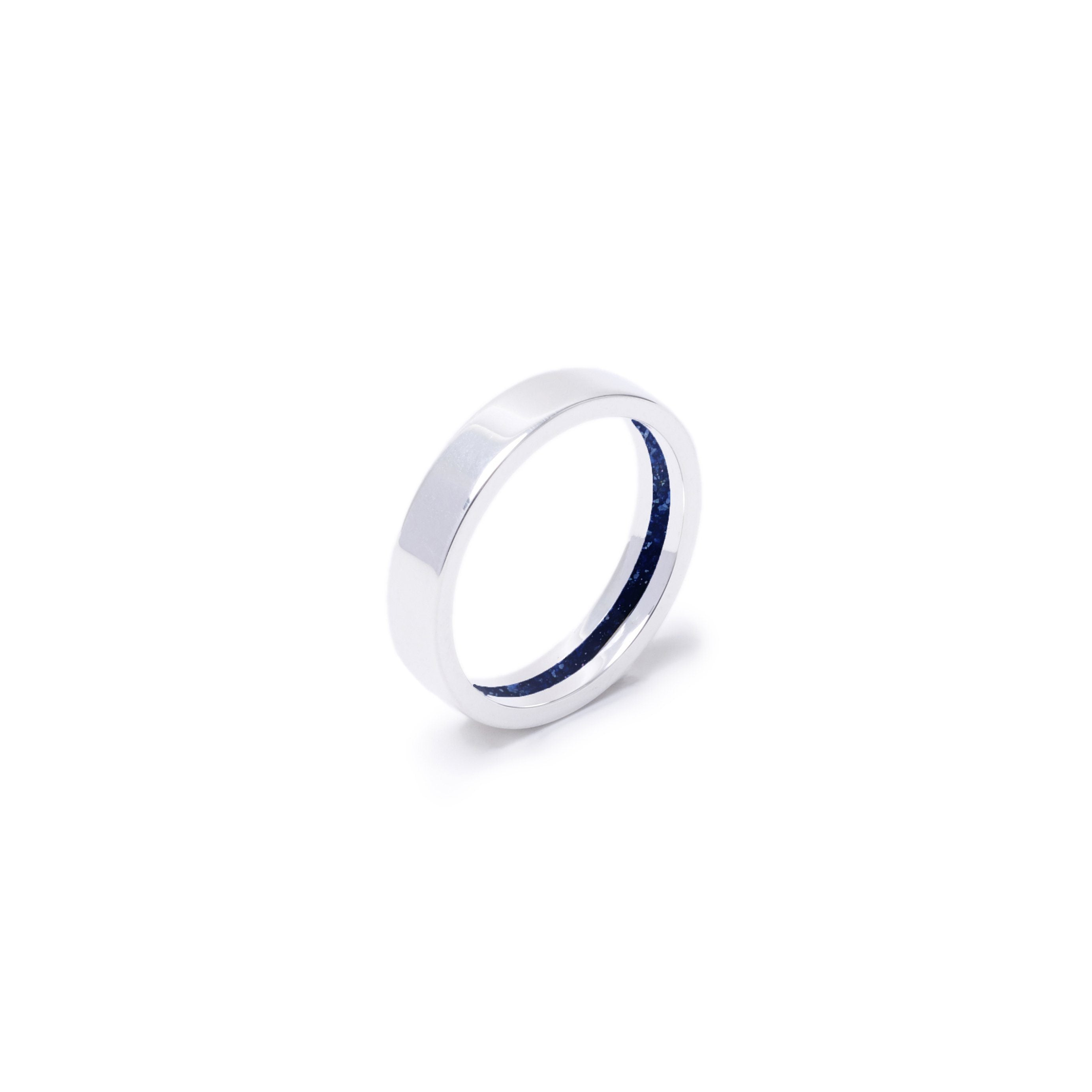 Everence Ring, Sterling Silver everence.life 4mm Navy