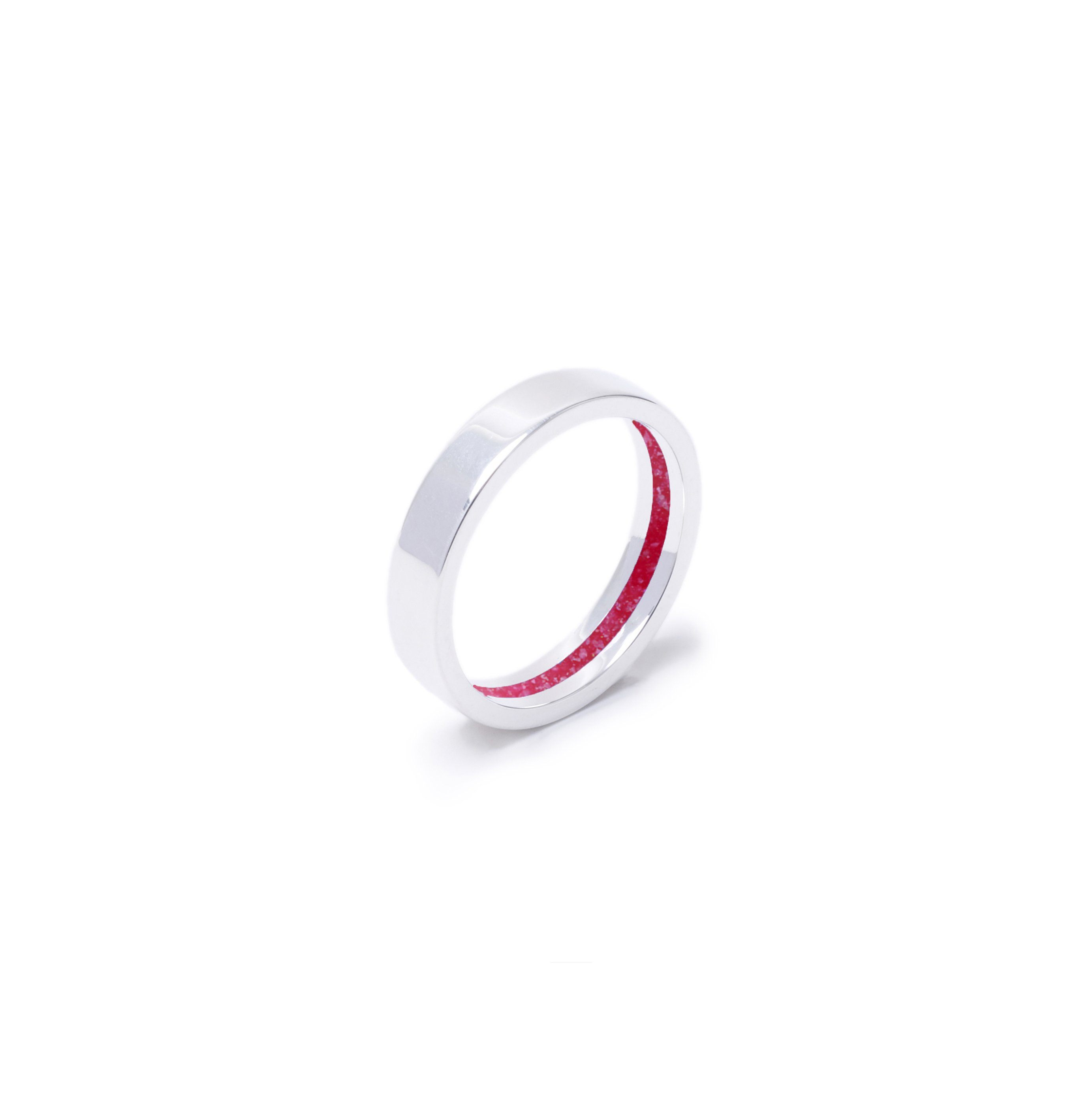 Everence Ring, Sterling Silver everence.life 4mm Scarlet