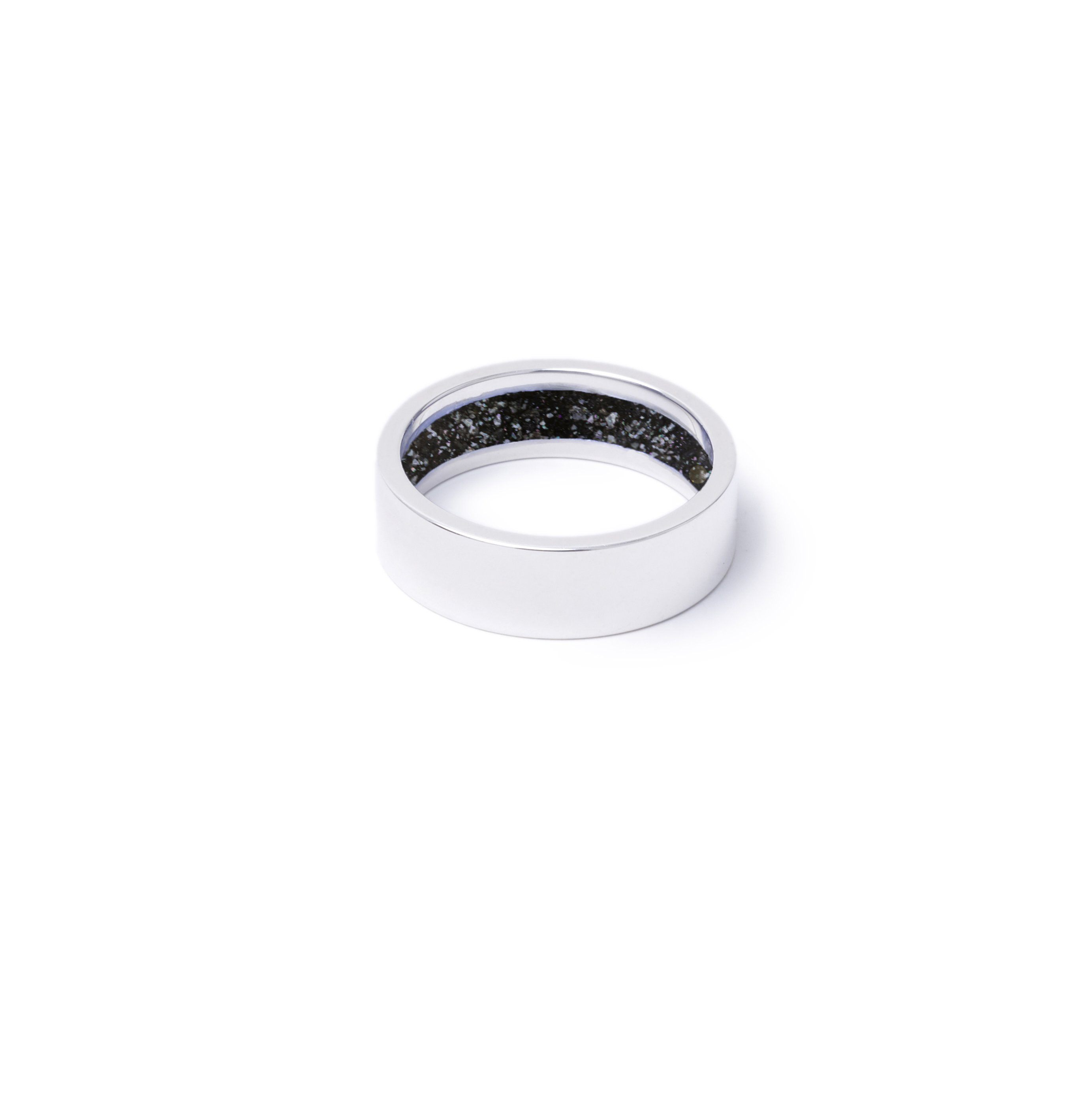 Everence Ring, Sterling Silver everence.life 6mm Charcoal
