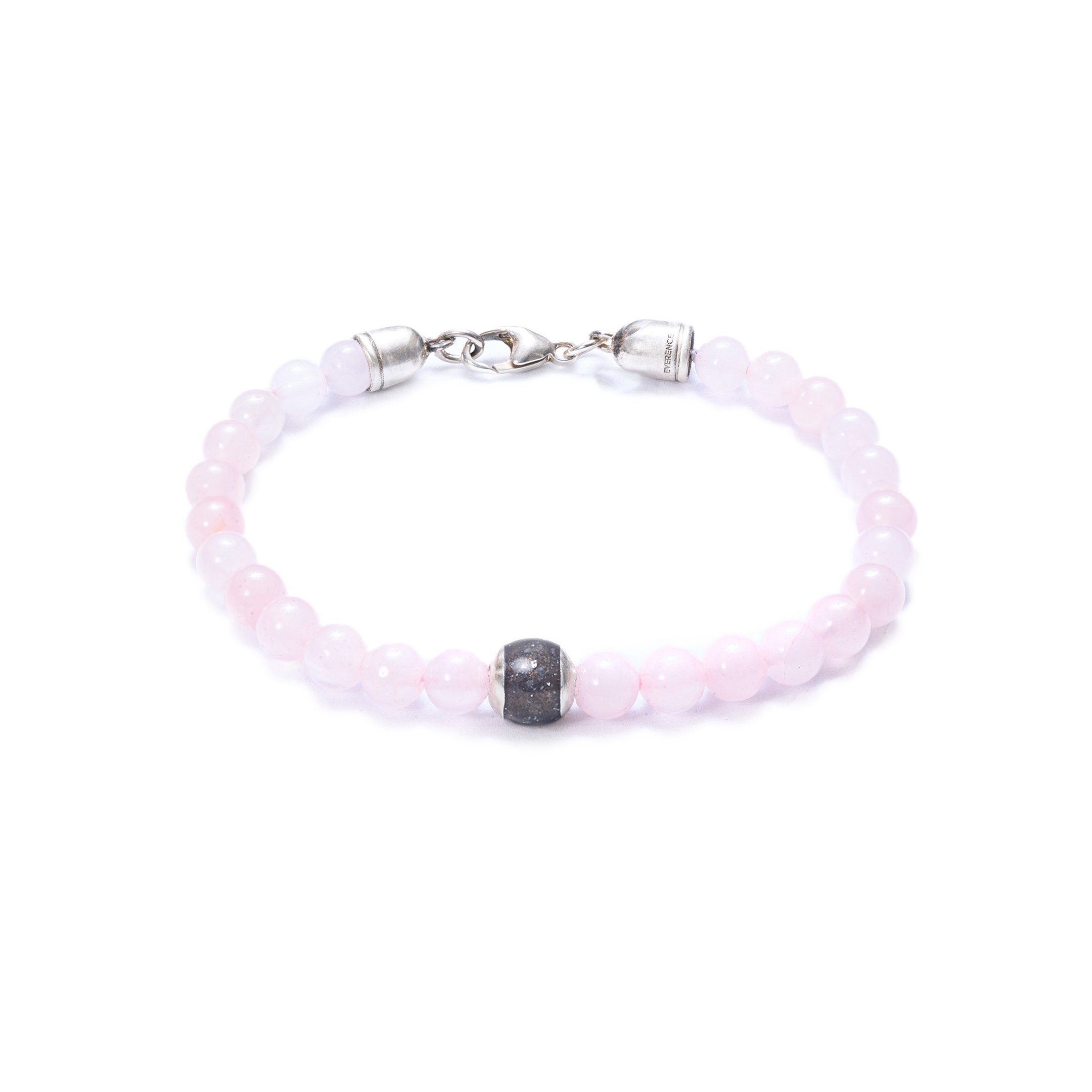 Rose Quartz, One Everence Bead Everence Grey Lobster Claw 7