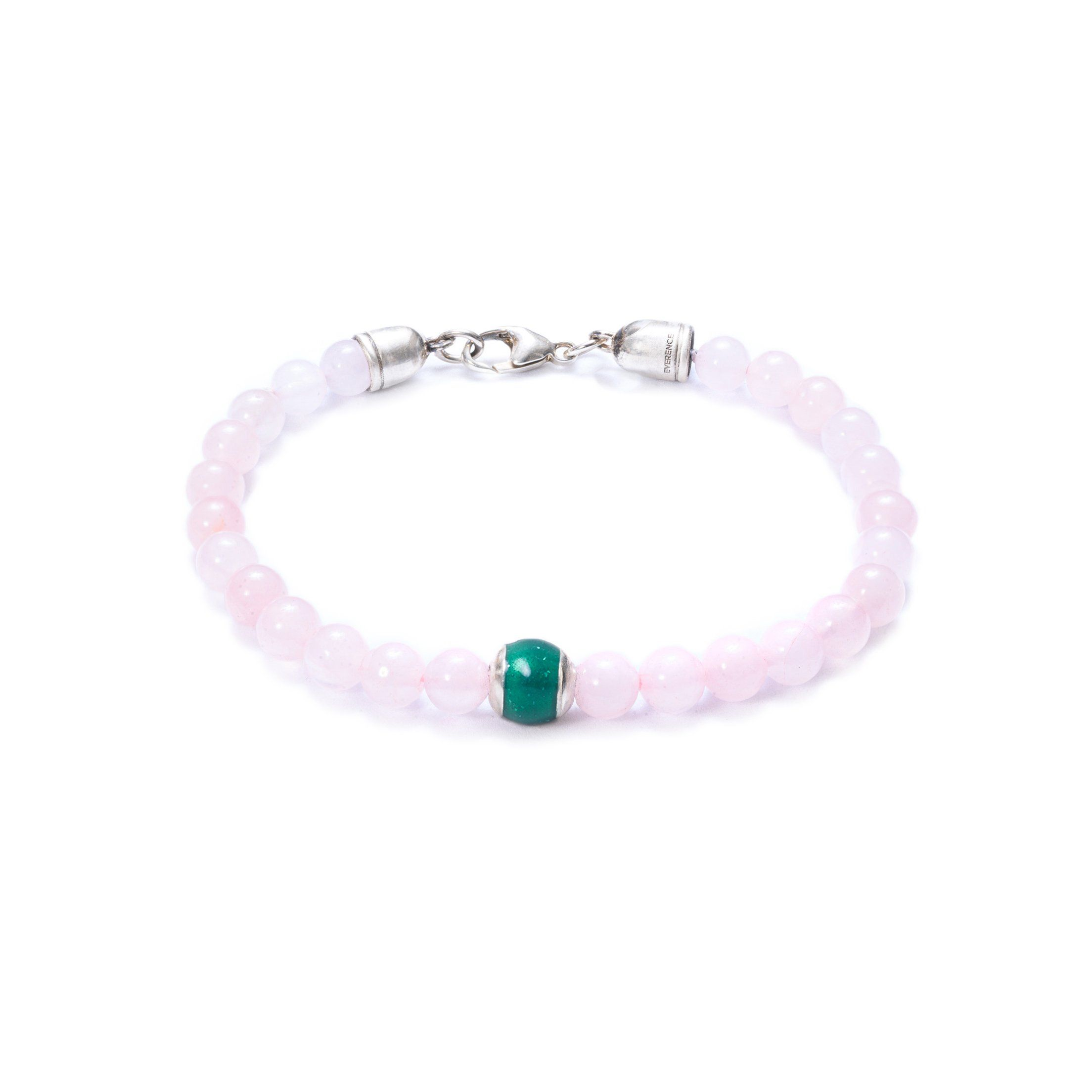 Rose Quartz, One Everence Bead Everence Green Lobster Claw 7