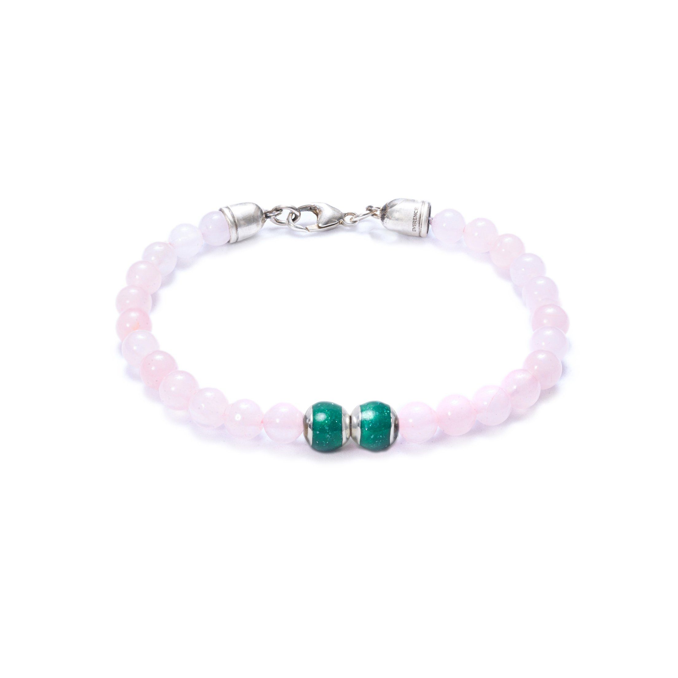 Rose Quartz, Two Everence Beads Everence Green Lobster Claw 7