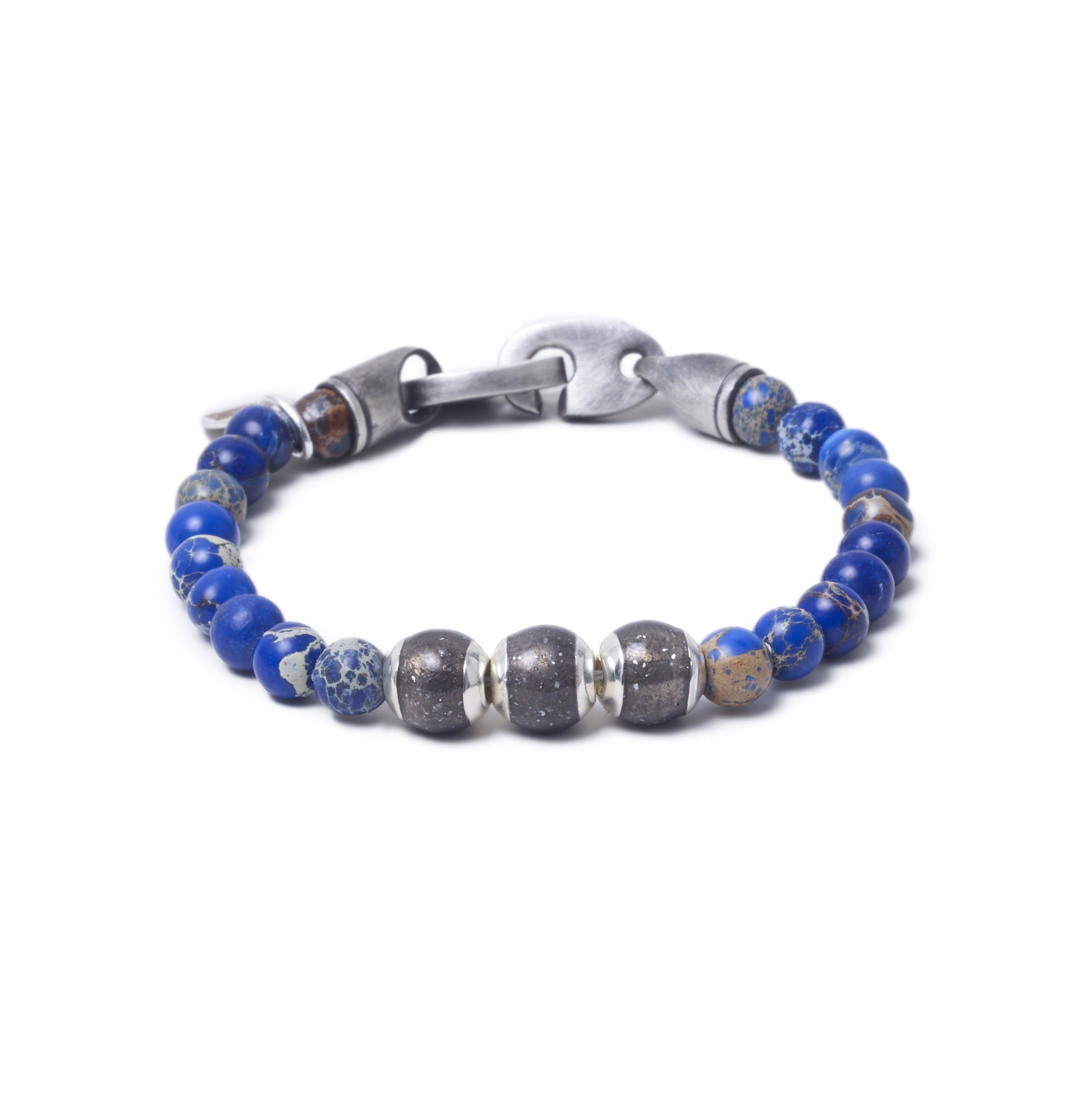 Blue Sea Jasper, Three Everence Beads