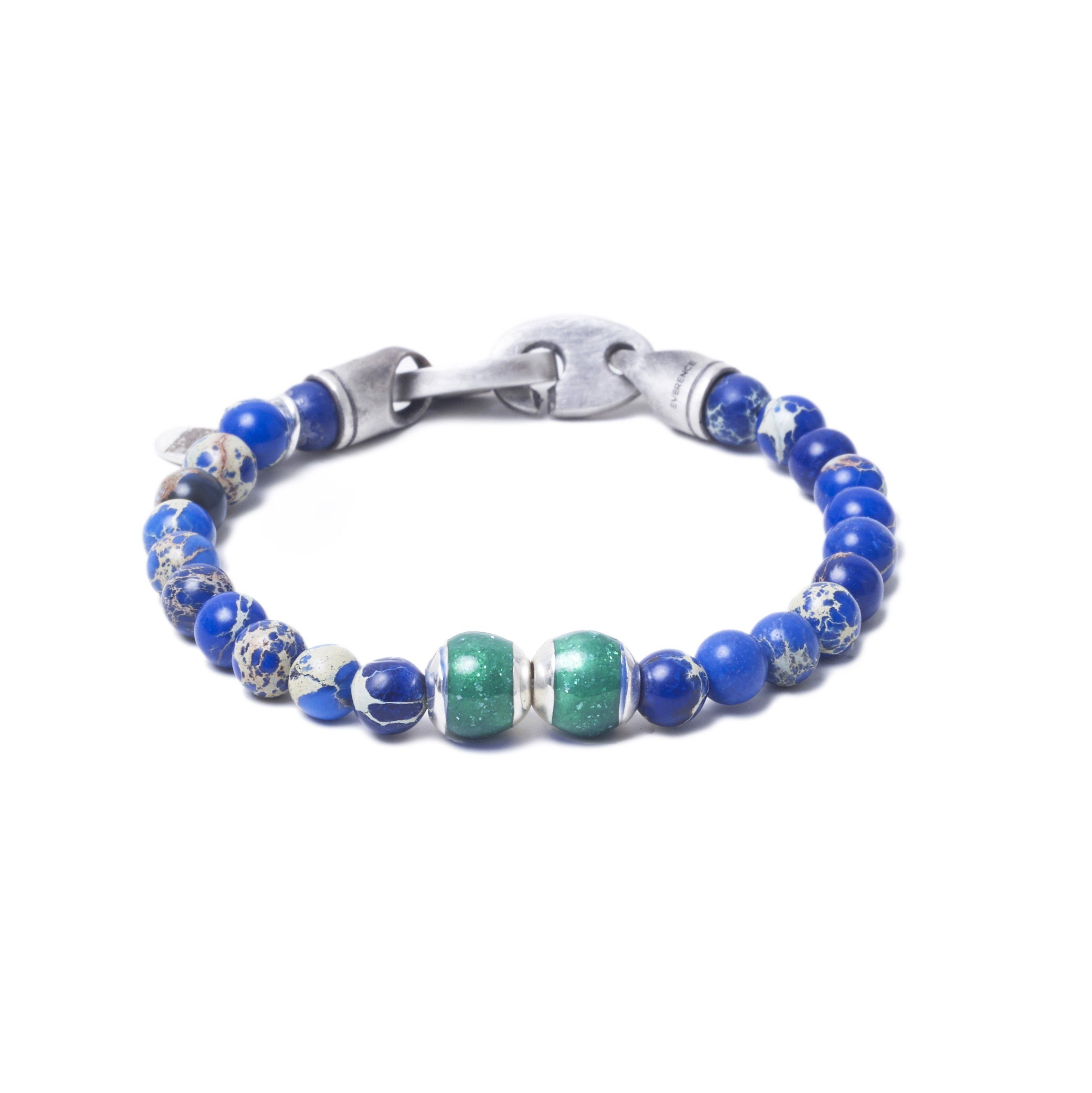 Blue Sea Jasper, Two Everence Beads everence.life Green Brummel Hook 7
