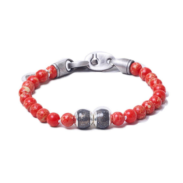 Red Sea Jasper, Two Everence Beads everence.life