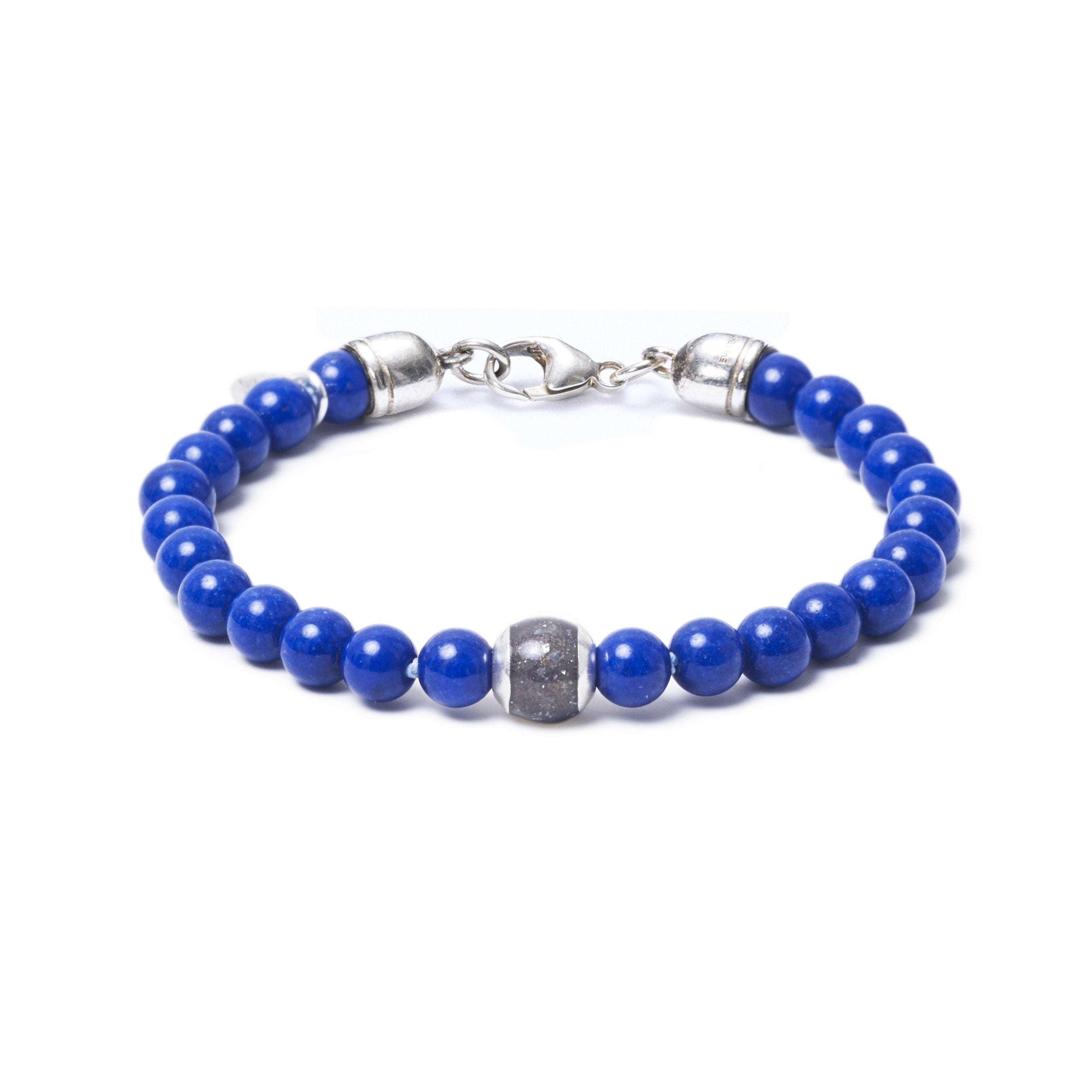 Lapis Lazuli, One Everence Bead everence.life Grey Lobster Claw 7