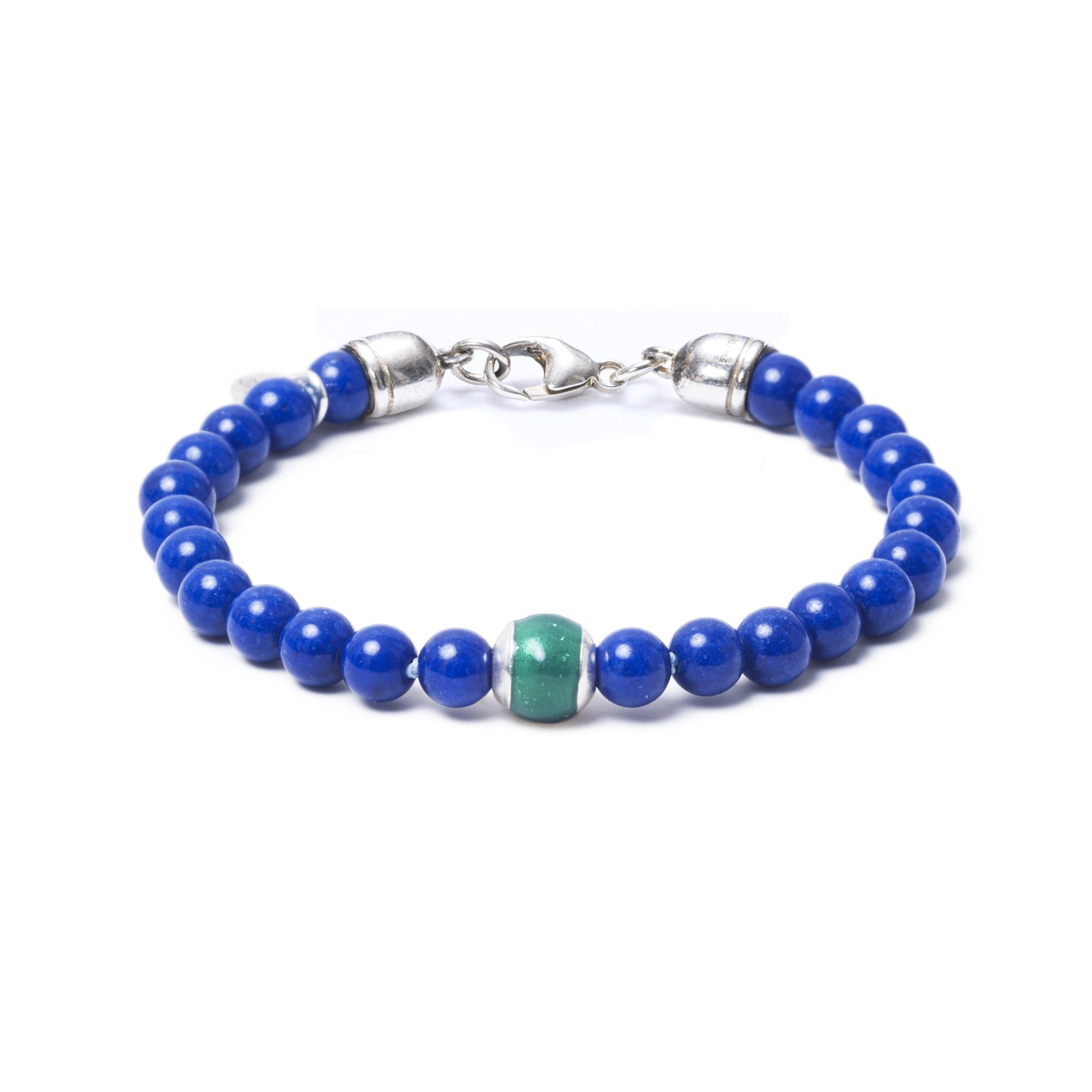 Lapis Lazuli, One Everence Bead everence.life Green Lobster Claw 7