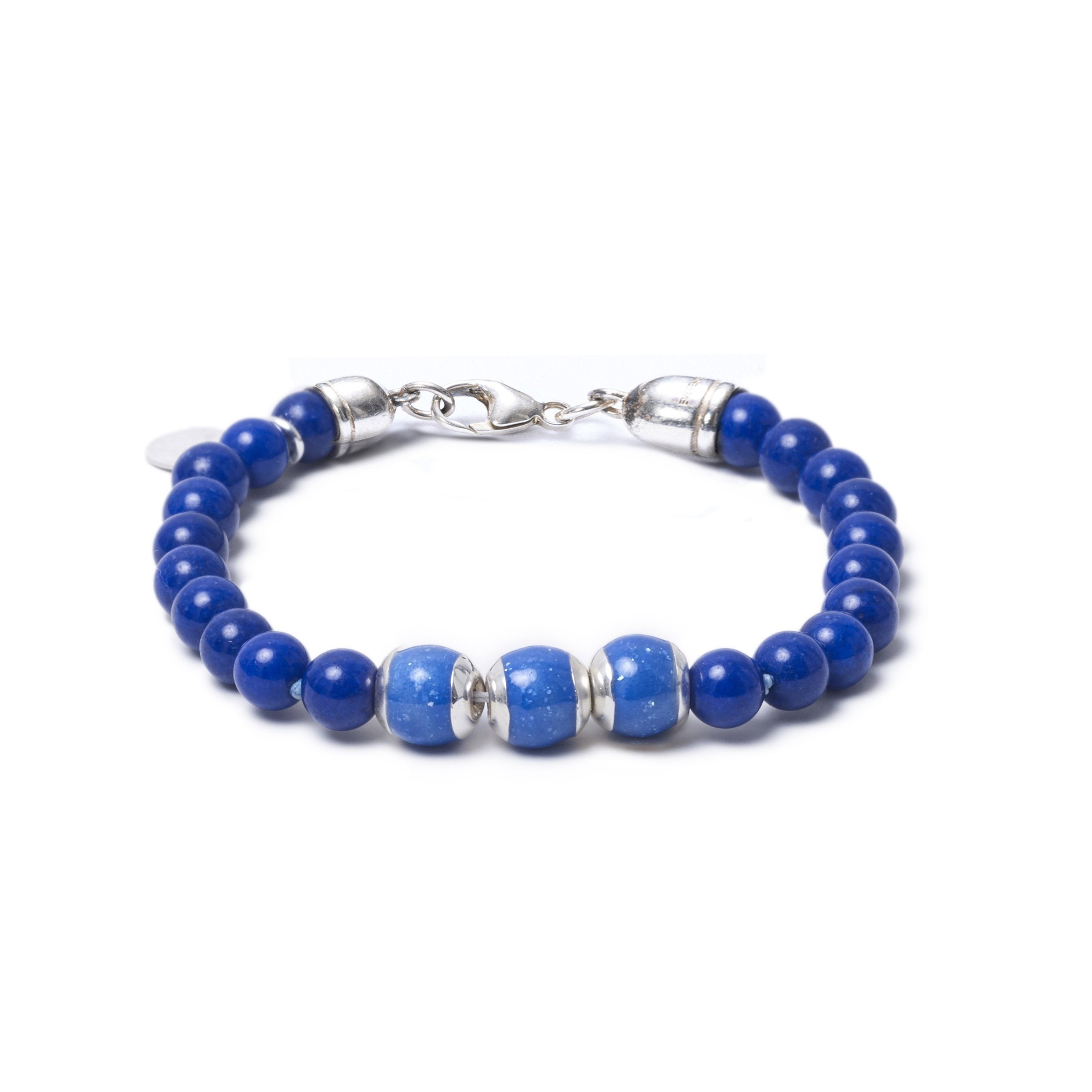Lapis Lazuli, Three Everence Beads everence.life Blue Lobster Claw 7