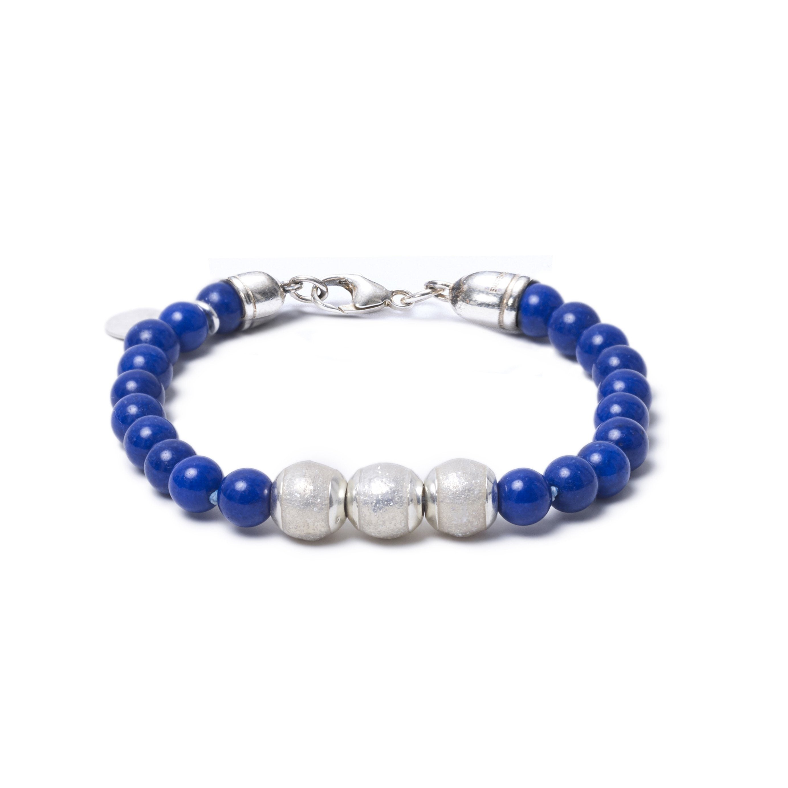 Lapis Lazuli, Three Everence Beads everence.life Clear Lobster Claw 7