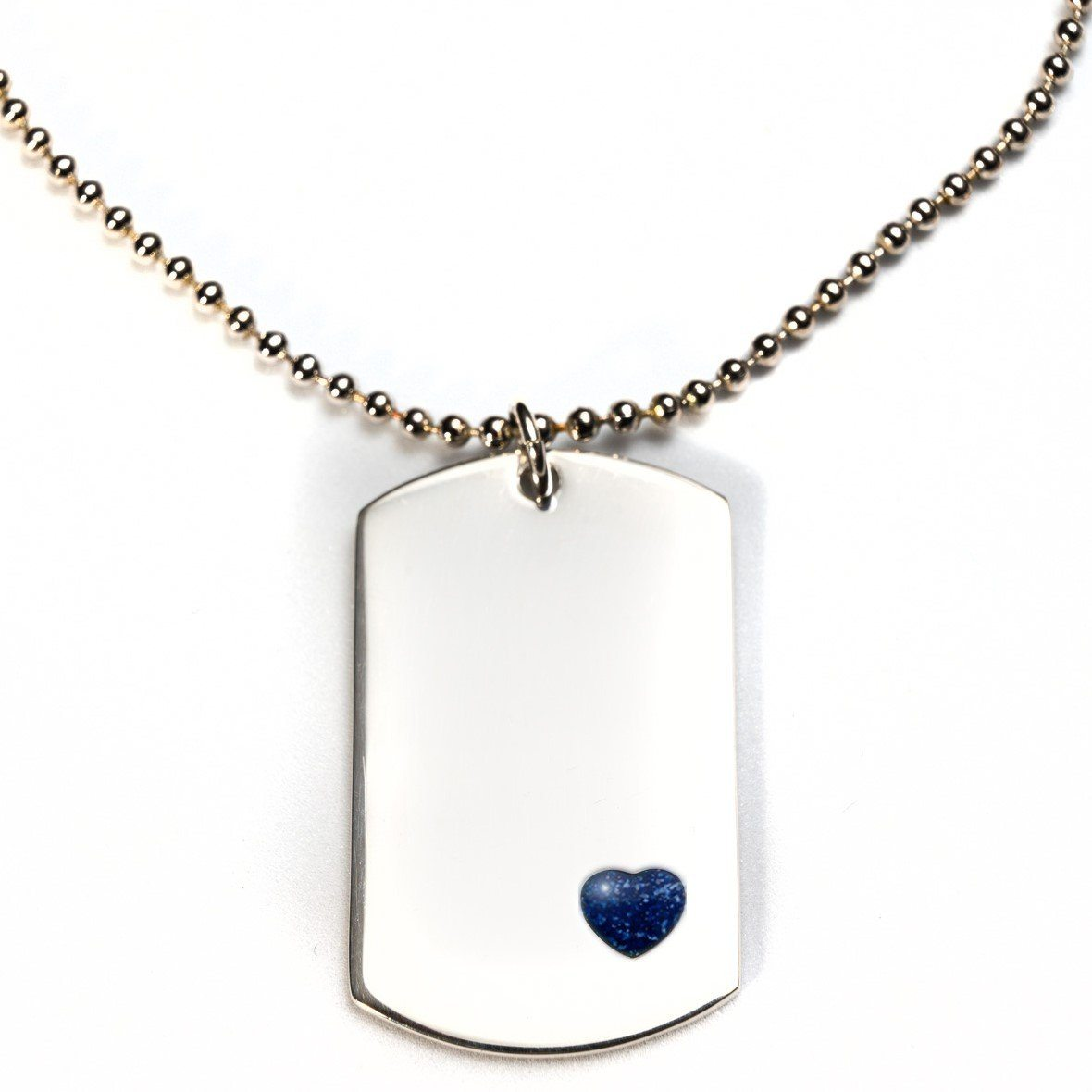 Sterling-Silver Dog Tag with Everence Inlay - Large Everence Navy