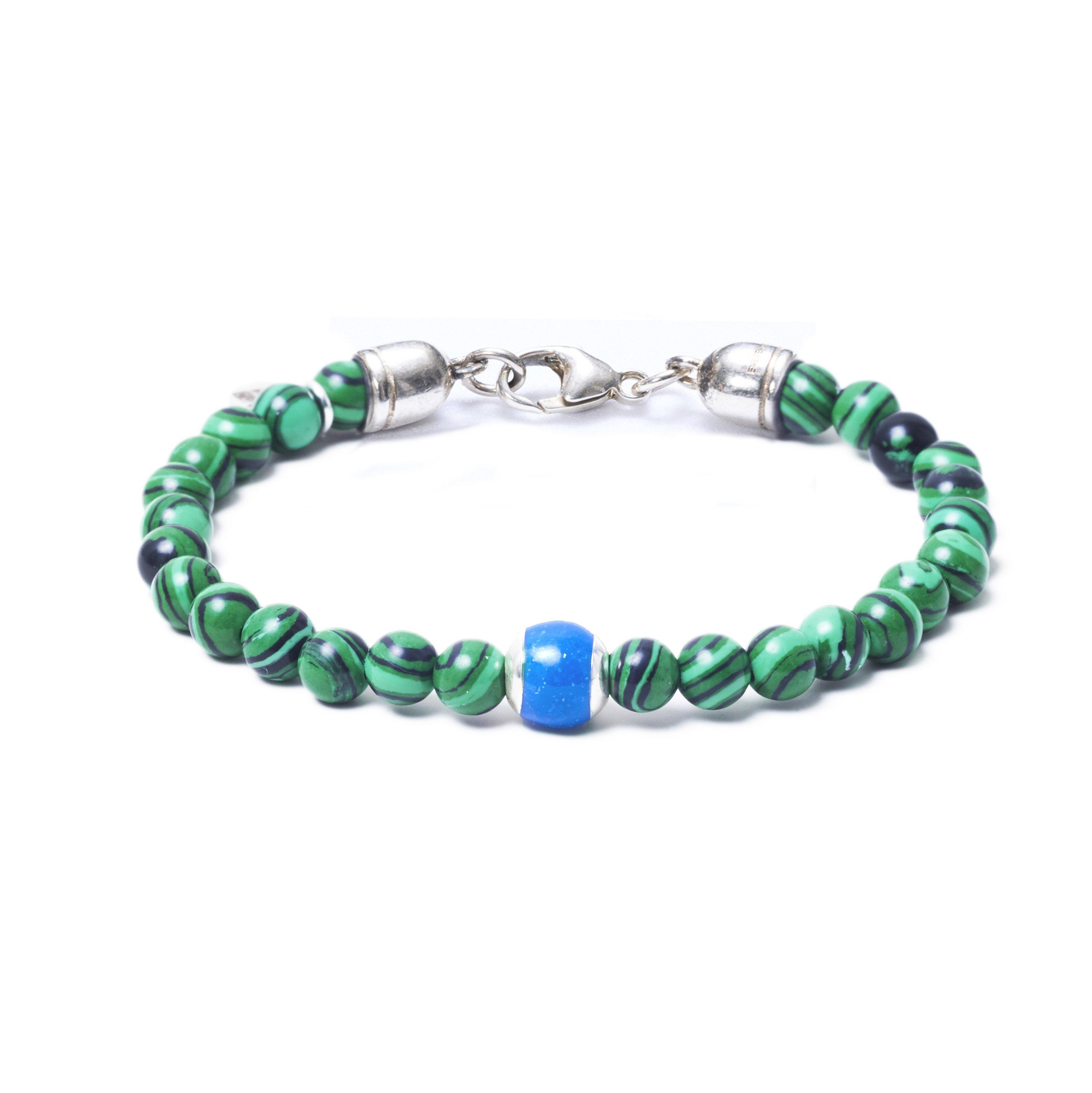 Malachite, One Everence Bead everence.life Blue Lobster Claw 7