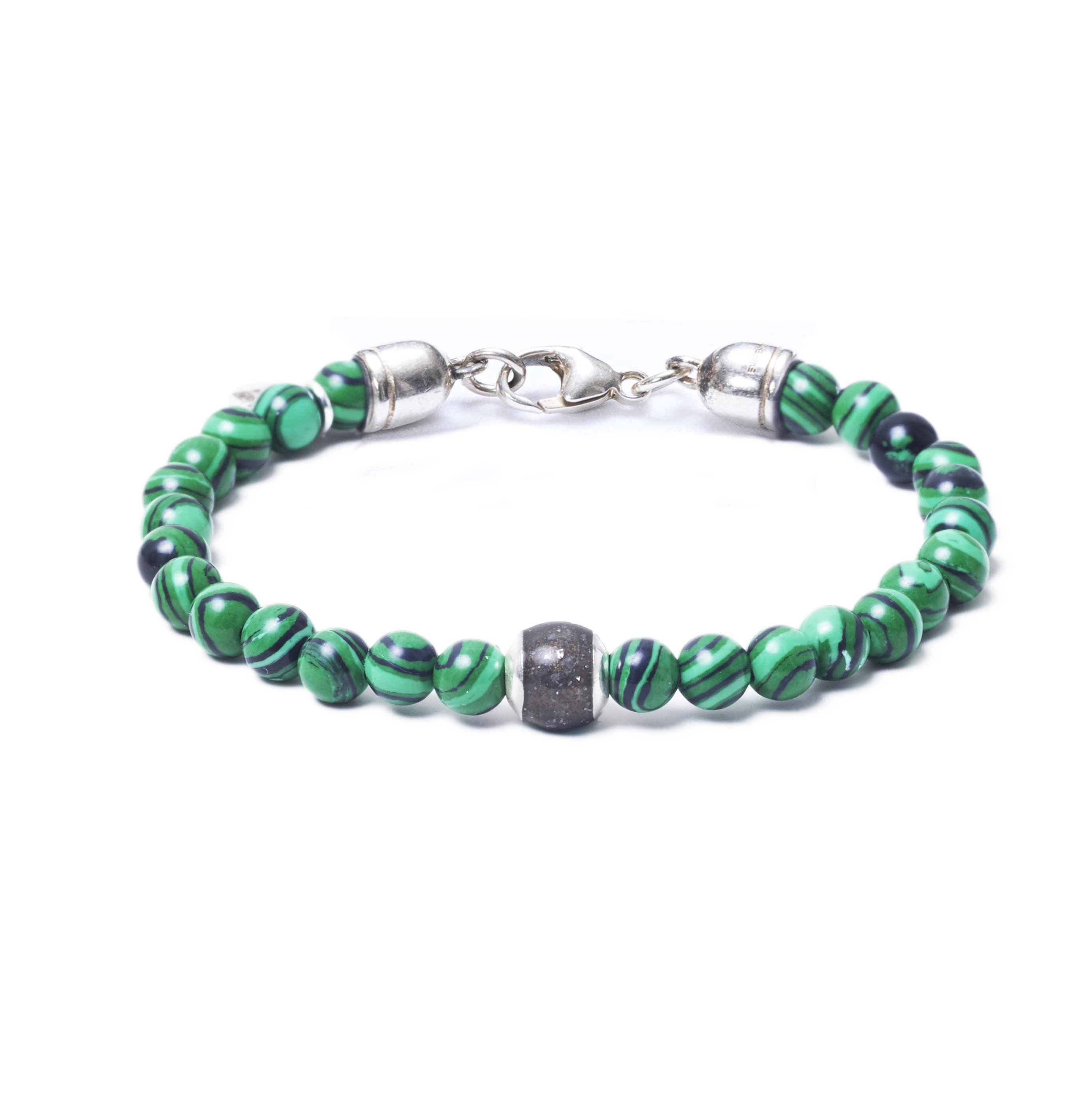 Malachite, One Everence Bead everence.life Grey Lobster Claw 7