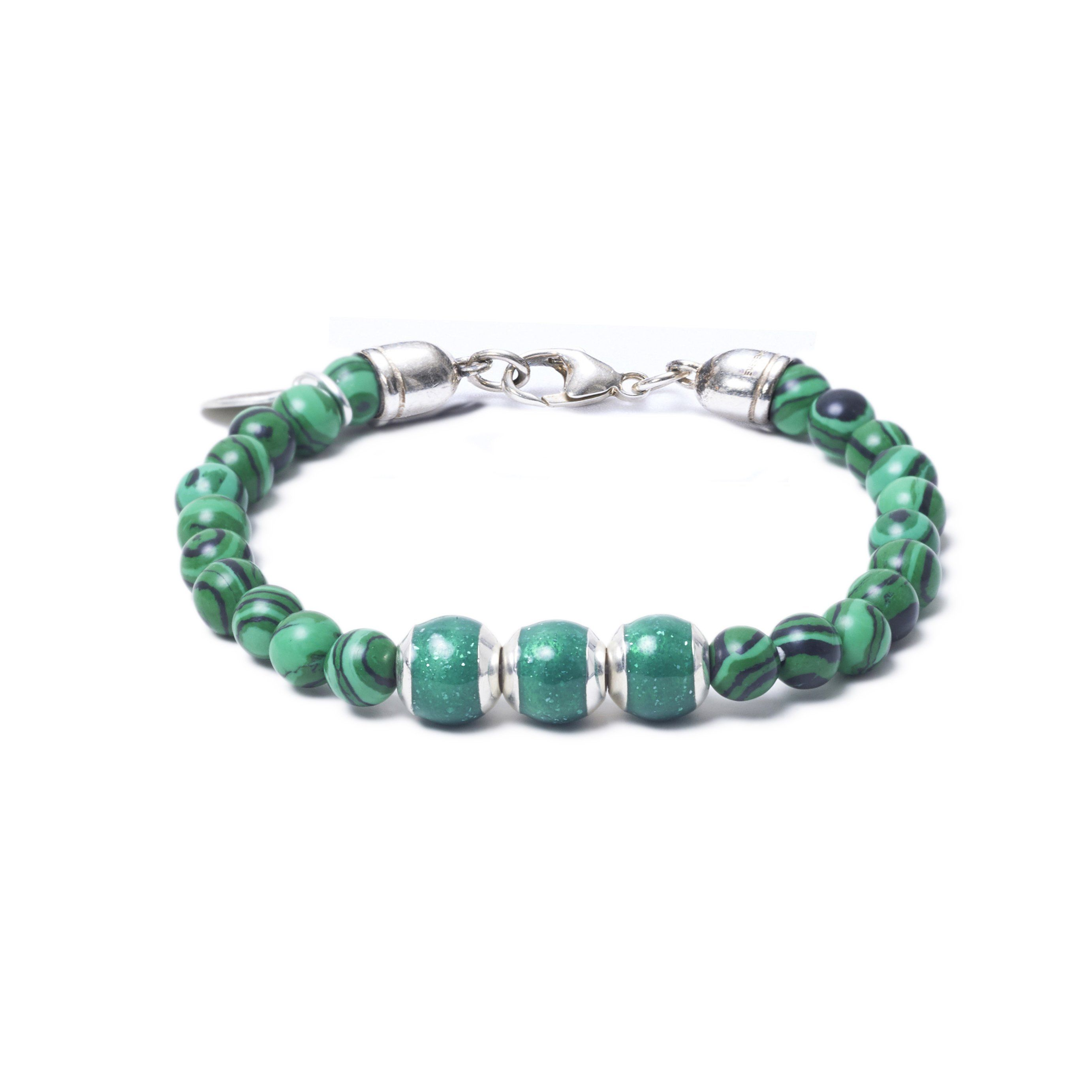 Malachite, Three Everence Beads everence.life Green Lobster Claw 7